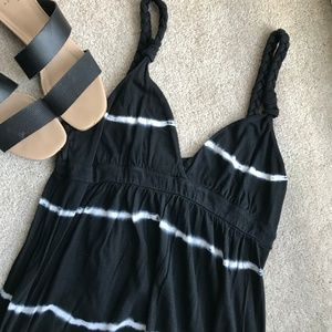 Lucky Brand Black & White Maxi Dress